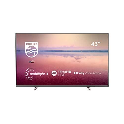 petit un compact Téléviseur LED 4K Ultra HD 108 cm Philips 43PUS6754 Smart TV / Smart TV LED 4K 43 pouces…