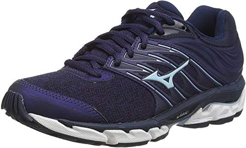 Mizuno Wave Paradox 5, Zapatillas de Running para Mujer, Azul (Medblu/Blue Glow/Dress Blue 19), 38.5 EU