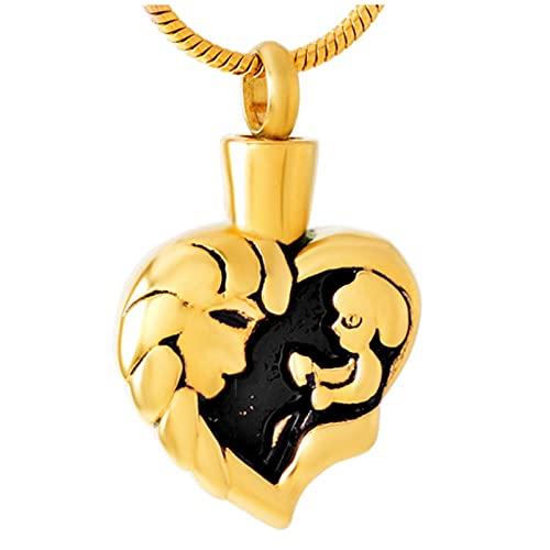 Urna Collar Cenizas Nuevos Medallones De Urnas Conmemorativas De Acero Inoxidable para Mamá Y Bebé/Collar De Urna Conmemorativa De Cremación Que Se Puede Abrir