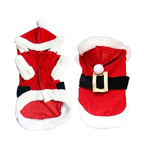 Yililay Decoracin navidea y Mascotas Disfraz de Navidad Perro Festival de Navidad Festival Capa Santa Hat Correa Traje para Mascotas Accesorio para Perros Puppy Gift M