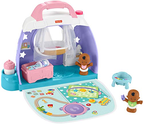 FisherPrice Little People Cuddle amp Play Nursery Portable Nursery Playset for Toddlers and Preschool Kids Up to Age 5