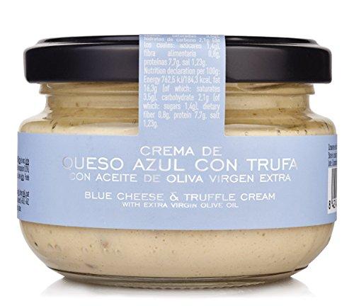 Deliziosa crema di formaggio con tartufo ed olio extravergine d'oliva Raccomandata specialmente agli amanti dei sapori forti Ideale come fresco aperitivo, spalmato su fette di pane appena tostate o crostini