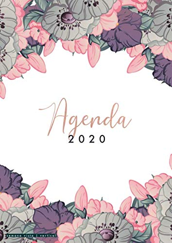 Agenda 2020: 2020 Agenda semanal vertical A4 - Agenda anual 2020 12 meses del 1 de enero de 2020 al 31 de diciembre de 2020 - diseño botanica