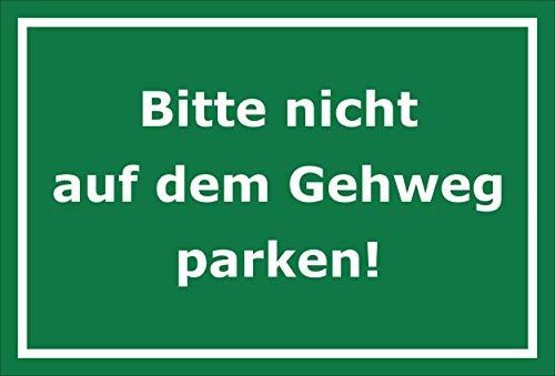Melis Folienwerkstatt sticker schild - niet op trottoir parkeren - S00065-101-G 60x40cm – Hartschaumplatte – ohne Bohrlöcher