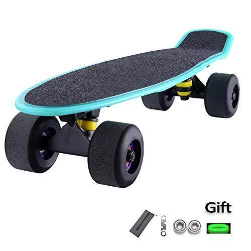 ZHNA Mini Cruiser Skateboard, Anfänger Kinder Skateboard, benutzt for Außen Street Fish Deck, Extreme Sports Challenge
