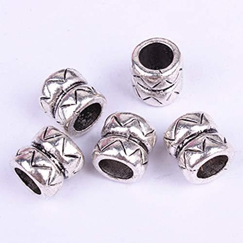Pruik Ring, 5 Stks Duurzaam Legering Materiaal Zilver DIY Reggae Pruik Haar Vlechtring Ook voor Aantrekkelijke Sieraden Kralen Decoratie, Goede Geschenken voor Kinderen en Vrienden free size ZILVER