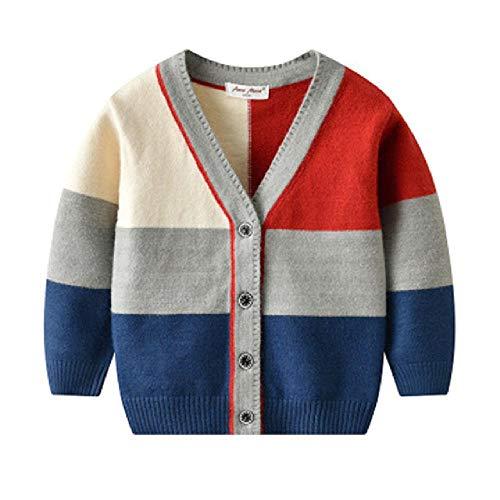 Nieuwe Kinder Kleding Breien V Beck Baby Jongens Vest Kleur Bijpassende Kids Mode Jas Herfst Jas Bebe Casual Kleding