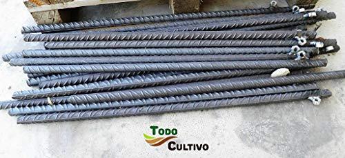 Pica anclaje de acero corrugado de 750 mm. x 20 mm (4uds). Muy resistente al arrastre. Pack 4 unidades