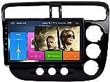 para Honda Civic (2001-2005) Android 8.1 Radio de automóvil Radio Estéreo Player de 9 Pulgadas GPS Navegación Multimedia Audio Función de Pantalla Dividida (RAM 1G + ROM 16G)