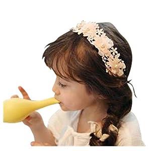 [kiejun] ヘアバンド カチューシャ 髪飾り ヘアアクセサリー フォーマル ベビー キッズ 結婚式 発表会 セレモニー ki-041 (ピンク)