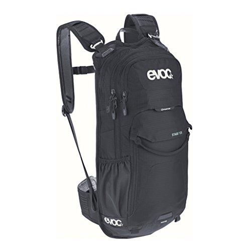 EVOC STAGE 12 technischer Tagesrucksack Backpack für Outdoor-Aktivitäten (AIR FLOW CONTACT System, verstellbare Schultergurte, Werkzeugfach mit Schnellzugriff, Trinkblasenfach), Schwarz