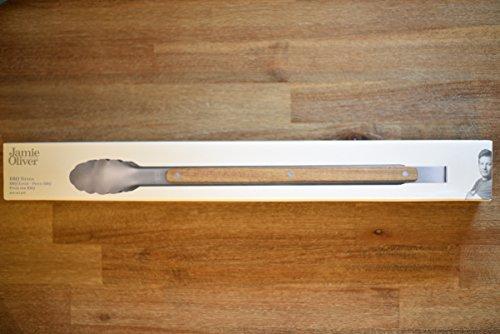 Jamie Oliver BBQ Grillzange Bratwender Grillwender FSC Holzgriff Grillbesteck Grill Wender Zange
