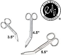 "EMI Lister Bandage Scissors 3 Piece Set: 3.5"", 4.5"", and 5.5"""