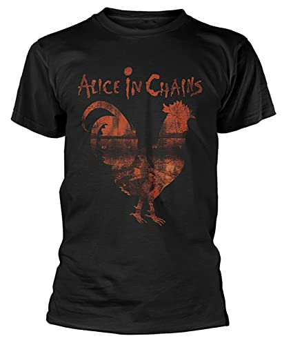 QzHP Alice in Chains 'Rooster Dirt' T-Shirt - New & Official! L Black