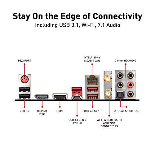 MSI MPG Z390 Gaming Edge AC LGA1151 (Intel 8th and 9th Gen) M.2 USB 3.1 Gen 2 DDR4 HDMI DP Wi-Fi SLI CFX ATX Z390 Gaming Motherboard Illinois