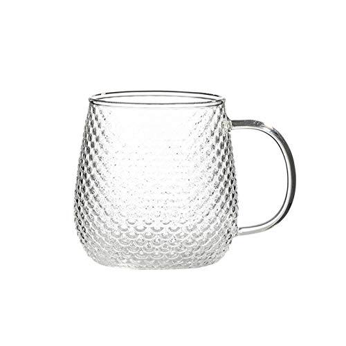ZPEE Vasos de Vidrio Modernos 2 Piezas de Cristal Taza de café, con la manija Conveniente, té Vasos, Tazas for Bebidas, Latte, Espresso Juego de Vasos de Vidrio