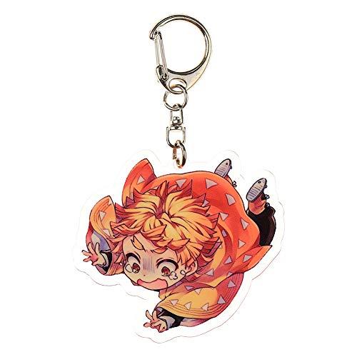 / Demon Slayer Keychain en acrylique Kimetsu no Yaiba Porte-clés Japonais Anime Nouveauté Sac Pendentif Accessoire 1(H06)
