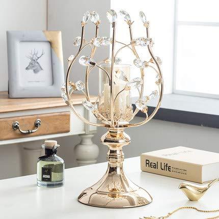 LLDKA kristallen kandelaar metaal kandelaar ornamenten Amerikaanse hoofddecoraties kaarslicht diner tafel rekwisieten