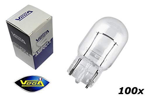 VEGA 100 Ampoules W21W T20 W3x16d Maxi Halogène 12V