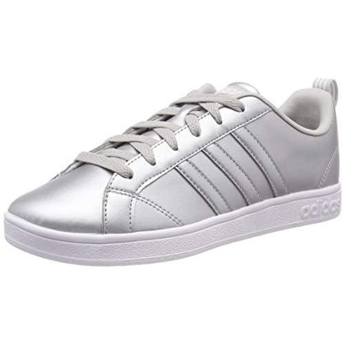 adidas Vs Advantage Scarpe da Tennis Donna, Argento (Matte Silver/Ftwr White/Grey Two F17 Matte Silver/Ftwr White/Grey Two F17), 36 EU