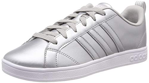 adidas Damen VS Advantage Tennisschuhe, Silber (Matte Silver/Ftwr White/Grey Two F17), 36 EU