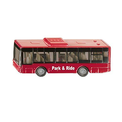 siku 1021, Linienbus, Metall/Kunststoff, Rot, Vielseitig einsetzbar, Spielzeugfahrzeug für Kinder