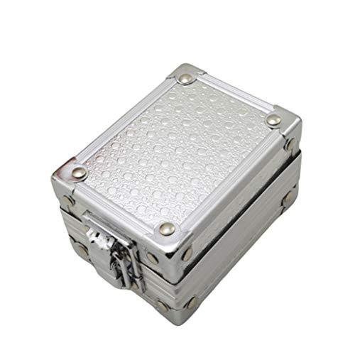 WYBFZTT-188 Caja de contenedores de Reloj de Aluminio con Bloqueo de joyería de Bloqueo Estuche de Almacenamiento en casa Organizador de Almacenamiento de hogar