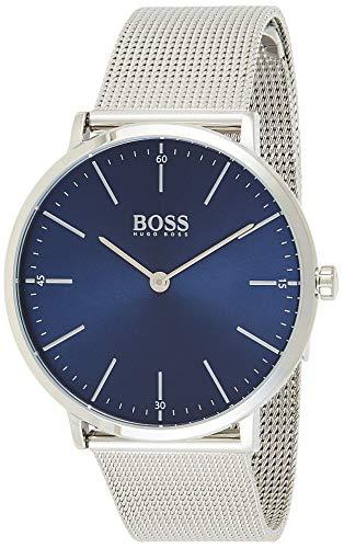 Hugo Boss Herren Quarz Armbanduhr mit Edelstahlarmband 1513541
