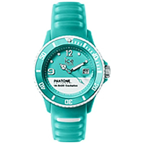 ICE-Watch - PAN.COK.U.S.14 - Pantone Universe - Cockatoo - Montre Mixte - Quartz Analogique - Cadran Vert - Bracelet Silicone Vert