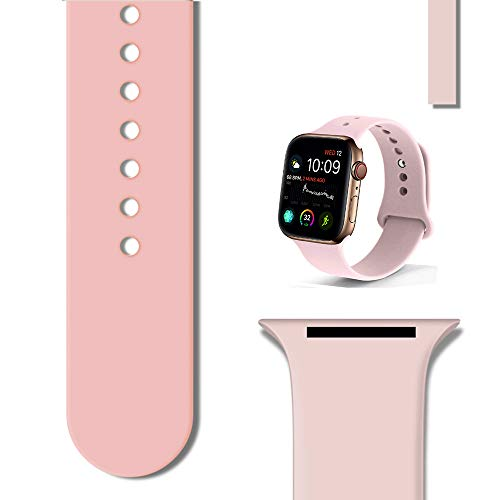 UnnFiko Sport Band compatibile con Apple Watch 38 mm, 40 mm, 42 mm, 44 mm, cinturino di ricambio in morbido silicone compatibile con Apple Watch Serie 1/2/3/4 42mm/44mm M/L Mocassini eleganti da donna