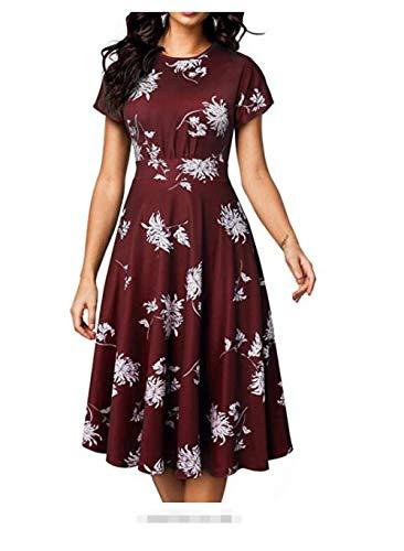 Vestidos casual para mujer Vestidos de ceremonia y eventos para mujer Suelto Vestido Verano Camisolas Vestido Espalada Descubirta Elegante Vestido Gala Vestido estampado retro gran swing falda