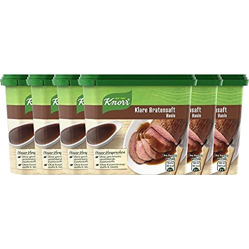 Knorr Klare Bratensaft Basis Dose Ergiebigkeit, 6er Pack (6 x 235 g)