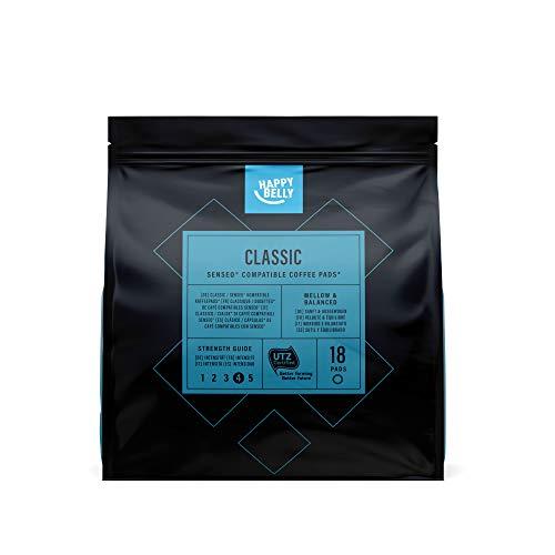 Amazon-Marke: Happy Belly Classic Kaffee-Pads kompatibel mit Senseo*, 90 Pads (5x18 )