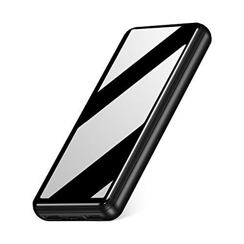 IEsafy 26800mAh Powerbank Externer Akku 2 USB Ausgängen Power Bank mit 2.4A Tragbares Ladegerät für iPhone Huawei Xiaomi Samsung iPad und Mehr Smartphone (Spiegefläche)