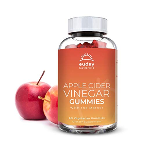 Apple Cider Vinegar Gummies - 1 Pack - 60 Count, Vegan, Gluten-Free, Non-GMO, with