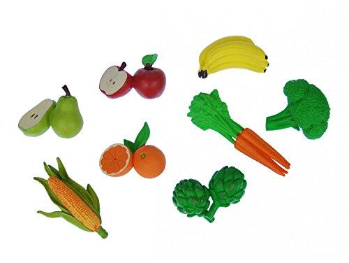 Miniblings 7X Gemüse Obst Set Gummi Lebensmittel Figur Garten Essen Vitamine