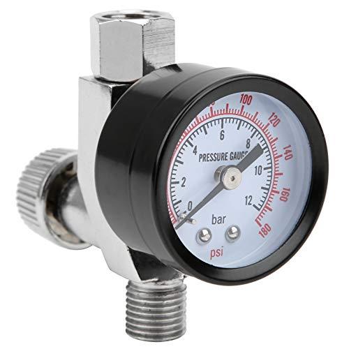 Válvula de control de aire Suministros industriales, 1/4 pulg. Regulador de presión de aire Amplia gama de aplicaciones Manómetro de presión de aire para equipos automotrices para