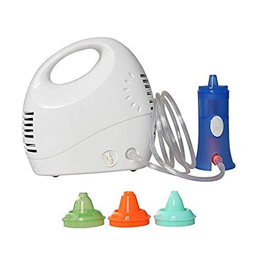 CPDZ Tratamiento de rinitis alérgica con Lavado Nasal eléctrico Irrigador Nasal para niños Adultos Diseño ergonómico Rotación de 360 Grados Spray Suave y sin Agua