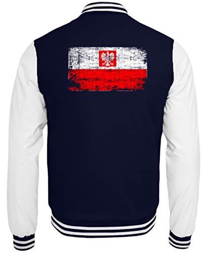 Polska Poland Polen Vintage Adler Flagge Retro - Schlichtes Und Witziges Design - College Sweatjacke