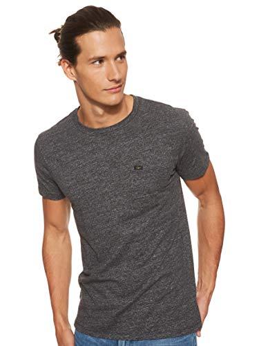 Lee Ultimate Pocket Camiseta, Gris (Dark Grey Mele 06), Large para Hombre