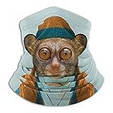 防風仮面 ネックウォーマー メガネザル先生 防塵マスク スポーツマスク ニットネック マフラー 吸汗速乾 日焼け防止 柔らかい 肌にやさしい 防寒フェイスマスク 暖かい 抗菌 多機能