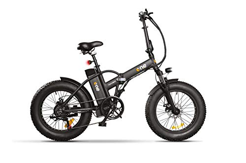THE ONE Fat Bike Elettrica, Bici Unisex Adulto, Nero