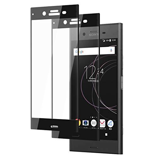 XPERIA XZ1 ガラスフィルム 3D全面保護【2020進化版】SO-01K SOV36 フィルム 強化ガラス【2枚入り】エクスペリア XZ1 液晶保護フィルム 硬度9H 指紋防止 透過率 ラウンドエッジ加工 XZ1 5.2インチ対応 保護シート