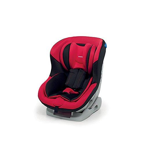 Foppapedretti Mydrive Seggiolino Auto, Gruppo 0/1 (0-18kg), per Bambini dalla Nascita fino a 4 Anni, Rosso/Nero