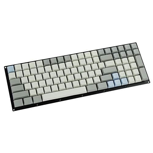 YMDK 147 XDA Blau Grau gemischte komplette Tastatur für MX mechanische Tastatur (nur Tastenkappe) Steelseries Ergodox Filco Leopold Cosair Noppoo Planck (nur Tastenkappe)