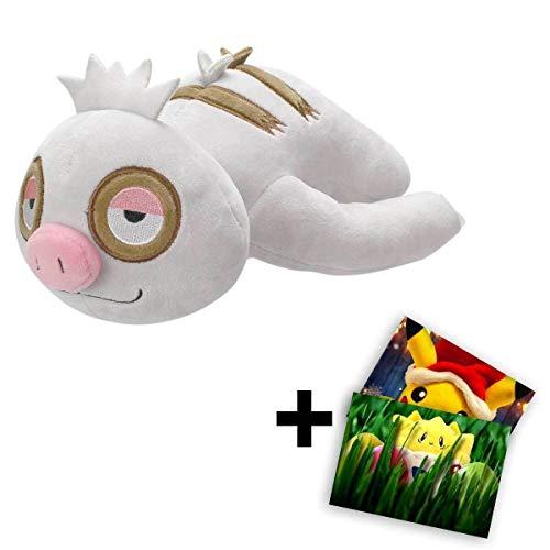 Lively Moments Pokemon Plüschtier ca. 20 cm / Kuscheltier Bummelz mit Gratis Grußkarte