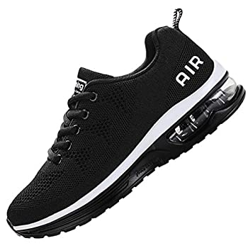 MEHOTO Mens Air Running Sneakers Men Sport Fitness Gym Jogging Walking Lightweight Shoes Color Blackwhite Size 10