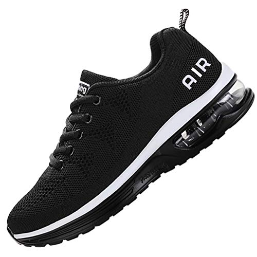 MEHOTO Mens Air Running Sneakers, Men Sport Fitness Gym Jogging Walking Lightweight Shoes, Color Blackwhite, Size 10.5