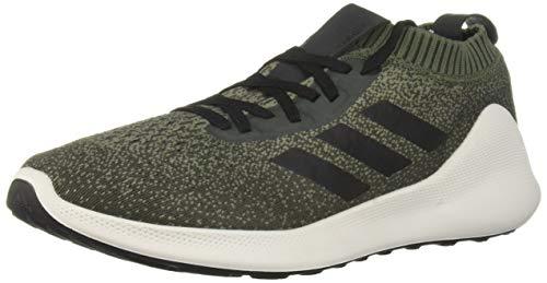 adidas Men's PureBounce+ Running Shoe, Base Green/Black/Night Cargo, 7.5 M US