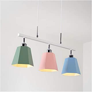 Chandelier M Pendant Light Ceiling Lamp Living Room Decor Children's Room Dining Table Study Cafe Restaurant E27 Nordic Macaron Iron n (Size : 3 Heads)